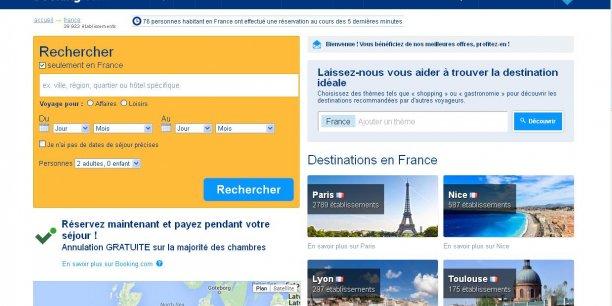 Booking.com se présente comme le leader mondial de la réservation en ligne d'hôtels et d'hébergements. La plateforme garantit le meilleur prix pour tous les types d'hébergement.