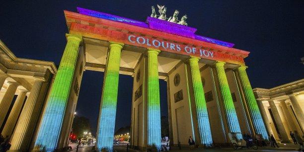 L'indicateur du moral des investisseurs allemands était particulièrement attendu dans un contexte économique compliqué pour l'Allemagne. (Photo: Berlin, le 10 octobre 2014, à l'ouverture du Festival of Light)
