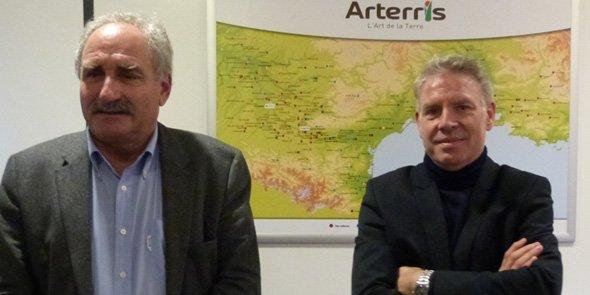 Jean-François Renoux, président d'Arterris et Jacques Logie, directeur général.