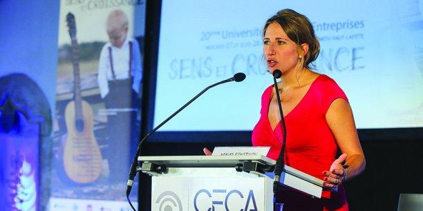 La navigatrice Maud Fontenoy faisait partie des invités d'honneur de l'édition 2014 de l'Université hommes - entreprises