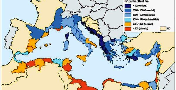 Pluviosité en Méditerranée