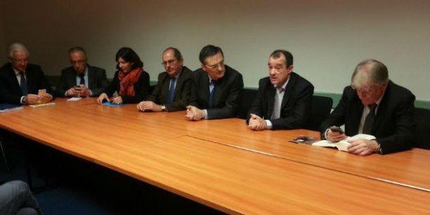 Anne Hidalgo, Philippe Laurent, Patrick Devedjian, Daniel Guiraud et Patrick Braouzec enfin d'accord sur la fiscalité de la Métropole.
