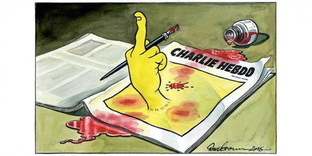 Image en Une de The Independent du 8 janvier 2015.