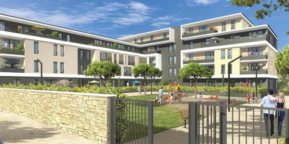 La résidence Amaretti, qui sera réalisée pour ACM sur la ZAC des Grisettes à Montpellier.