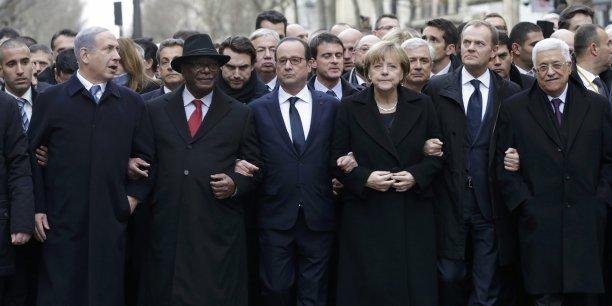 François Hollande et les chefs d'Etat ont battu le pavé parisien dimanche 11 janvier.