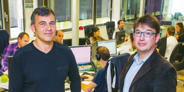 Gilles Raymond, PDG, et Jérome Le Feuvre, directeur général de News Republic
