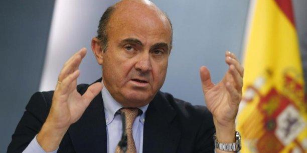 Nous sommes conscients que notre prévision de 2% est déjà inférieure au consensus du marché, commente le ministre de l'Économie espagnol Luis de Guindos.