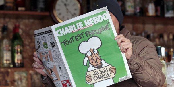 L'édition des survivants datée du 14 janvier, une semaine après l'attentat à Charlie Hebdo.