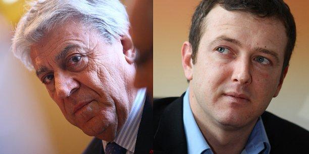 Le sénateur Alain Chatillon (à gauche), tête de liste UDI-UMP, pourrait devoir faire face à une liste Modem menée par Arnaud Lafon (à droite).