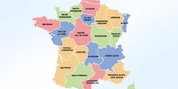 La nouvelle carte des régions proposée par la commission spéciale du Sénat.