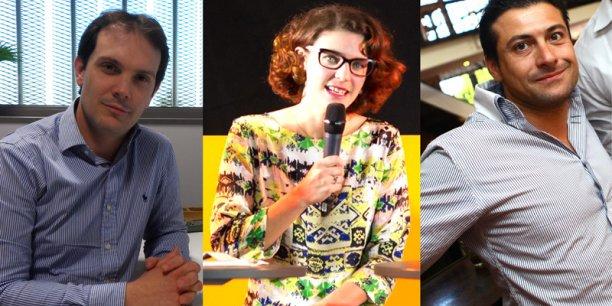 Pascal Descargues (Genoskin), Carole Zisat-Garat (Telegrafik) et Thomas Fantini (Compagnie des Pergos).  © Photos DR/Rémi Benoit