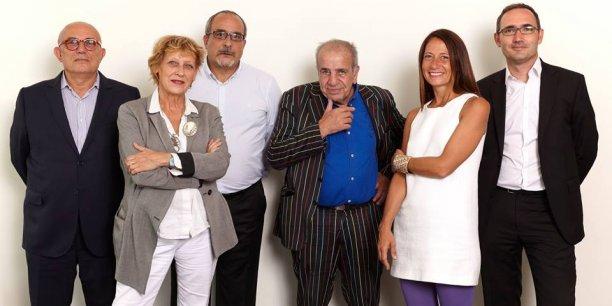 L'équipe du Central Park : Bernard Rayard, Sophie Dénissof, Marc Rozenblat, Roland Castro, Sylvia Casi et François-Xavier Monaco