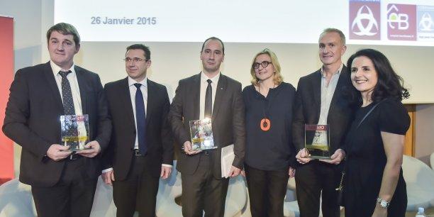 Olivier Foix, Frédéric Toubeau, Mathieu Reglain, Emmanuelle Ripert-Chollet, Alain Bossière et Cendrine Martinez