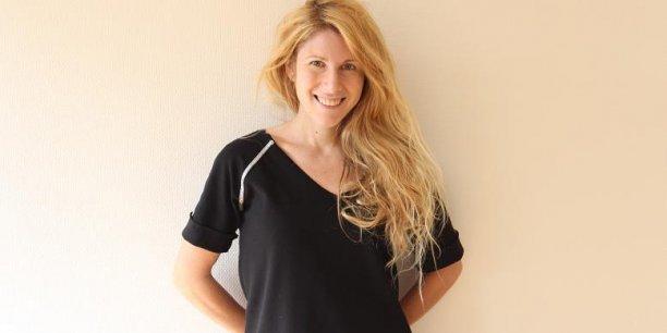Constance Bost, 30 ans co-dirige L'Atelier de Couture, griffe de vêtements fabriqués au Vietnam.