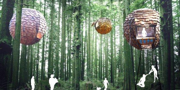 Une proposition d'hébergement écolo pour les visiteurs de l'Expo. (Crédits : Anthony Guido)