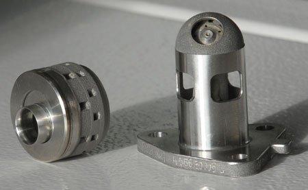 Avant l'impression 3D, ces injecteurs étaient composés de 12 pièces. Désormais, la fabrication additive permet de réaliser des pièces de formes complexes en un seul bloc