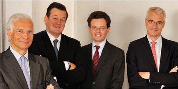 Le directoire de Siparex : Denis Rodarie, Benoît Métais, Nicolas Eschermann et le président Bertrand Rambaud