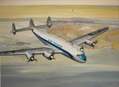 un Super Constellation d'Air France