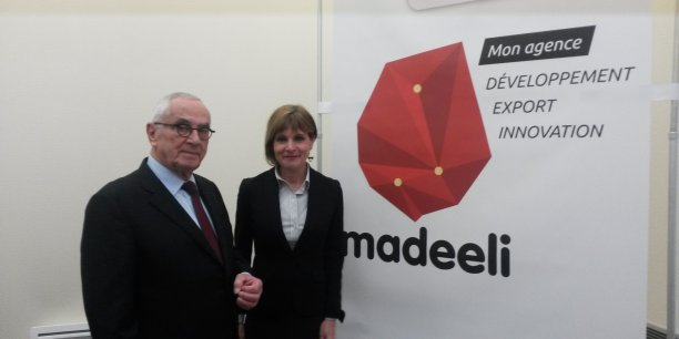 Martin Malvy et Anne Lauvergeon lors du lancement de la nouvelle agence économique de Midi-Pyrénées