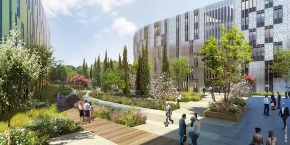 Asset center une nouvelle entr e de ville business for Architecte paysagiste montpellier