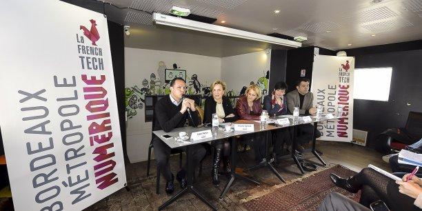 Julien Parrou, Virginie Calmels, Agnès Grangé, Emmanuelle Ajon et Christophe Charle ont donné quelques indications sur le plan d'actions de French Tech Bordeaux
