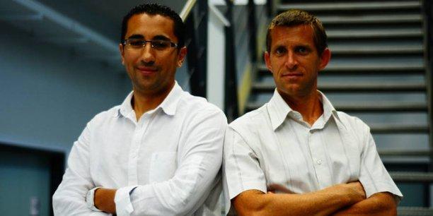 Amine Karray et Stéphane Bascobert, à l'origine de la société Innov'ATM