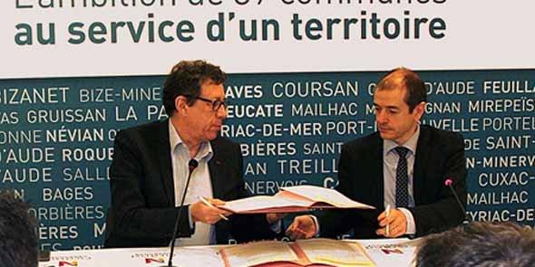 Jacques Bascou (Grand Narbonne) et André Viola (CG11)