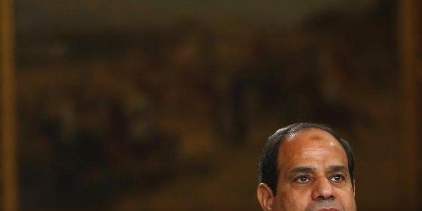 Le maréchal Sissi, président de l'Egypte