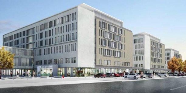 Vue d'architecte du projet de Médipôle Lyon-Villeurbanne