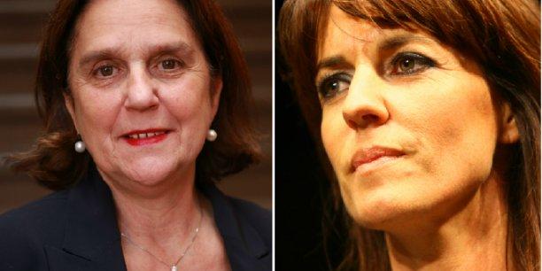 Brigitte Micouleau et Laurence Arribagé