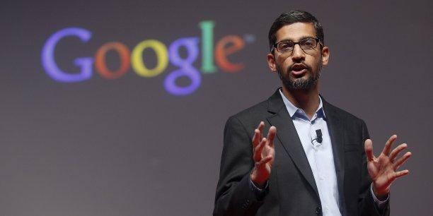 C'est comme s'il était à la fois le lanceur, le frappeur et l'arbitre sur le marché électronique de la pub, dénonce la plainte de décembre déposée par dix États républicains contre le géant Google aujourd'hui dirigé par Sundai Pichai (photo).