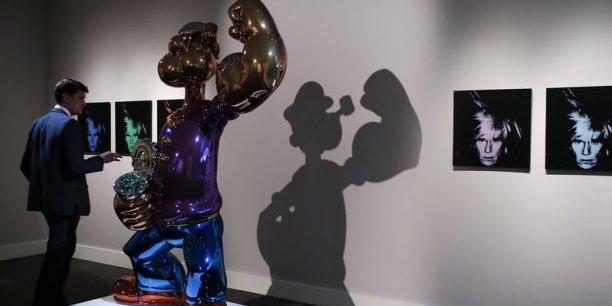 Un Warhol et un Koons dépassent 25 millions de dollars aux enchères.