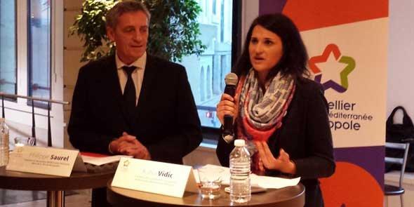 Philippe Saurel, président de M3M, et Katia Vidic, co-fondatrice de Nelis