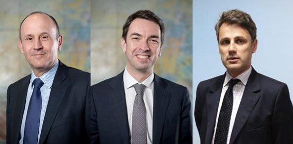 Raphaël Appert, Emmanuel Vey et Hans de Breda.