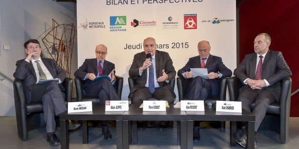 Alain Anziani, Alain Juppé, Pierre Goguet, Alain Rousset et Alain Charrier