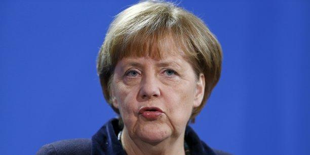 Bruxelles, qui négocie le Tafta ne pourra tenir cette échéance que si elle sait pouvoir compter sur le soutien des États membres, a déclaré la chancelière. L'Allemagne en tout cas le lui garantit, a-t-elle assuré.