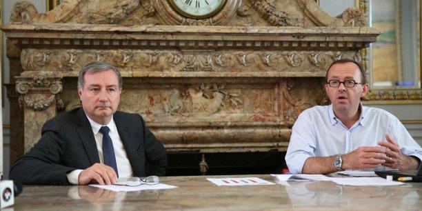 Jean-Luc Moudenc et Sacha Briand