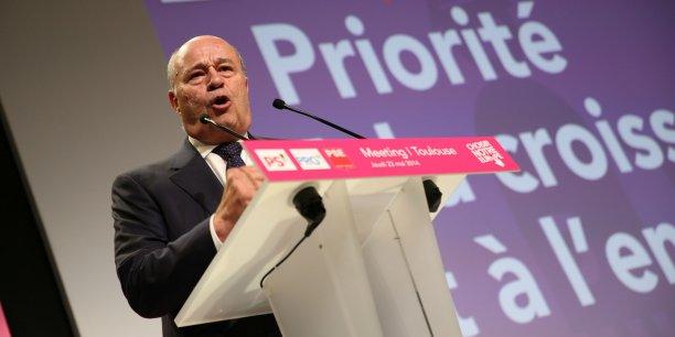 Jean-Michel Baylet lors d'un meeting à Toulouse pour les élections européennes le 22 mai 2014.