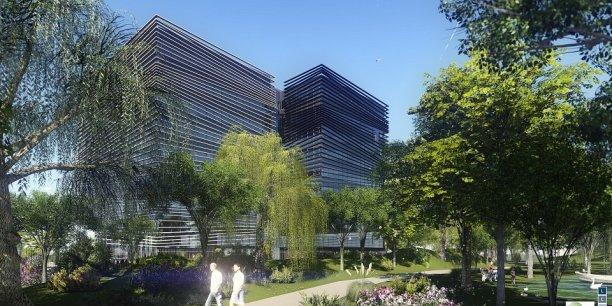 Le futur immeuble de bureaux de Thales à Labège