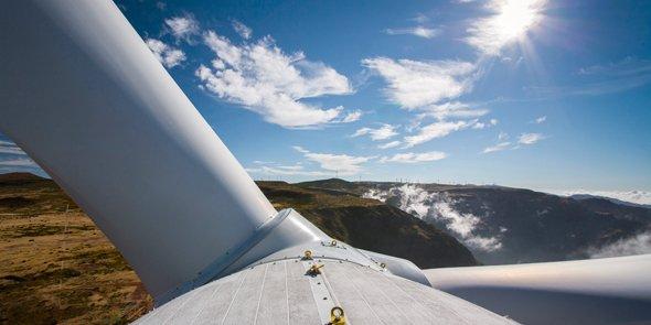 Le parc se compose de 35 turbines