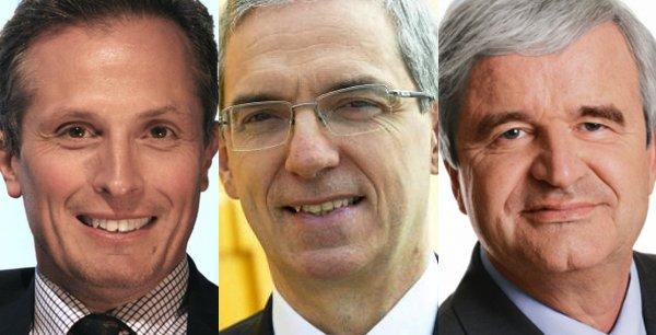 Jérôme Frantz, Alexandre Saubot et Marc Ventre se disputent jeudi 19 mars la présidence de la puissante Fédération patronale de la métallurgie (UIMM).
