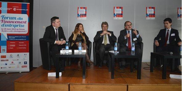 A. Rey (Objectif Languedoc-Roussillon), S. Andrieu (CCi de Montpellier), B. Fourcade (CCI L-R),  F. Lafon (FBF), J-F. Ponzio (bpifrance)