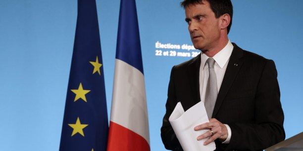 Ce soir, l'extrême droite, même si elle est trop haute, n'est pas la première formation de France, a déclaré le Premier ministre Manuel Valls.
