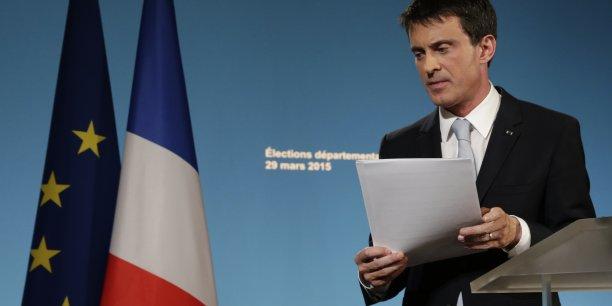 Les scores très élevés, beaucoup trop élevés de l'extrême droite, restent plus que jamais un défi pour les républicains, a insisté Manuel Valls suite à l'annonce des résultats du second tour des élections départementales.