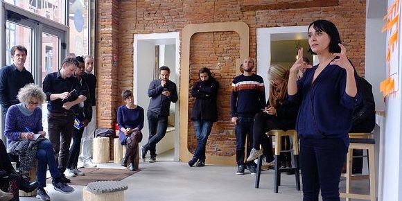 Après le travail en groupe, les projets ont été présenté à l'ensemble des participants