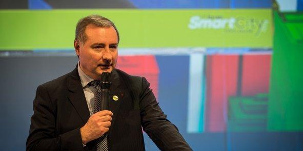 Jean-Luc Moudenc lors du 1er Forum Smart City Toulouse organisé par La Tribune-Objectif news en décembre 2014.