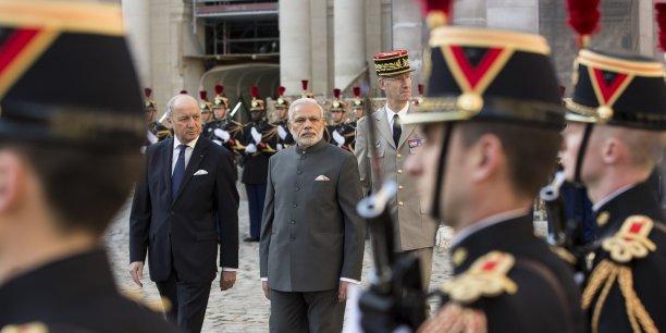 Le Premier ministre indien en visite à Paris ce 10 avril 2015.
