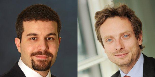 Khalid Aït-Yahia (à gauche) et Paul Chollet (à droite), économistes à la Coface.