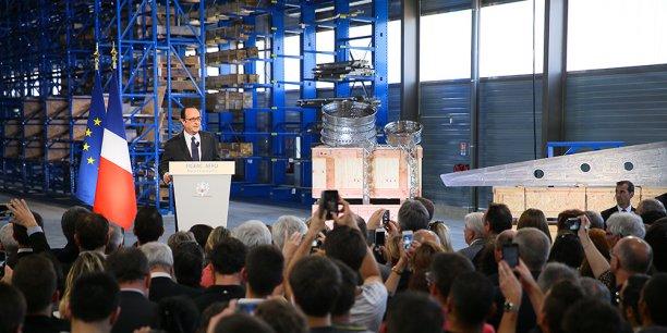 François Hollande à Figeac Aéro.