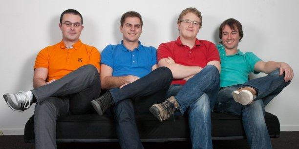 Les quatre fondateurs de la startup CityMeo : Antoine Lubineau, David Keribin, James Packer et Josselyn Hermitte.